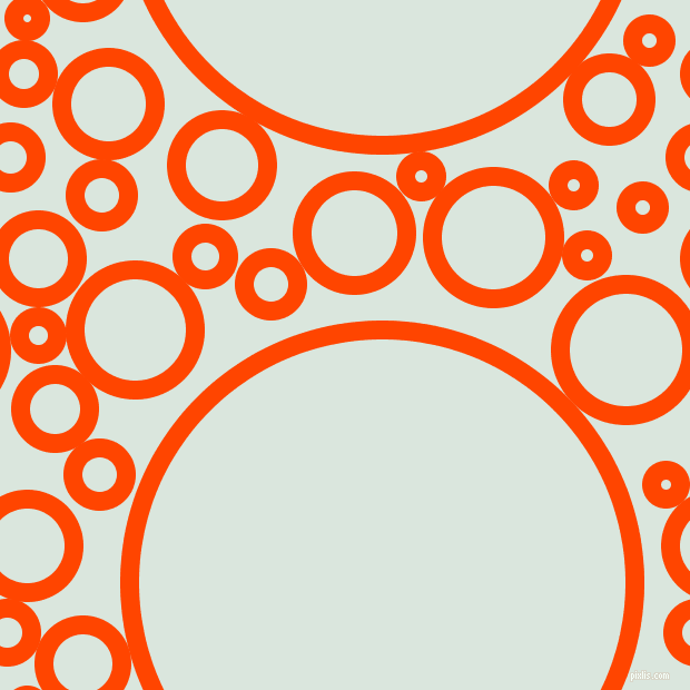 bubbles, circles, sponge, big, medium, small, 17 pixel line width, Orange Red and Swans Down circles bubbles sponge soap seamless tileable
