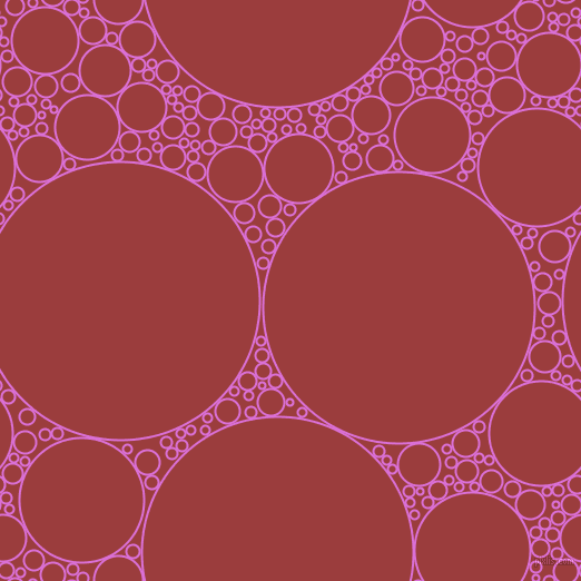 bubbles, circles, sponge, big, medium, small, 2 pixel line width, Orchid and Mexican Red circles bubbles sponge soap seamless tileable