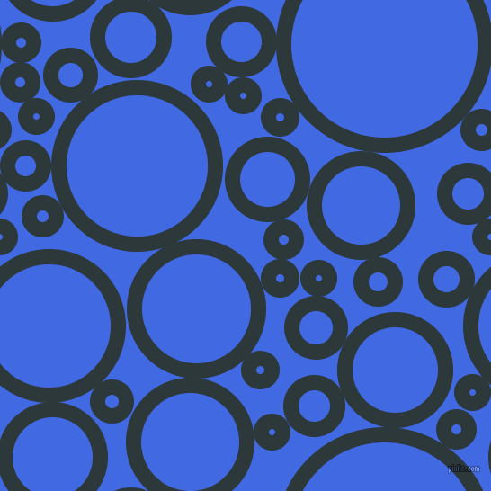 bubbles, circles, sponge, big, medium, small, 17 pixel line width, Outer Space and Royal Blue circles bubbles sponge soap seamless tileable