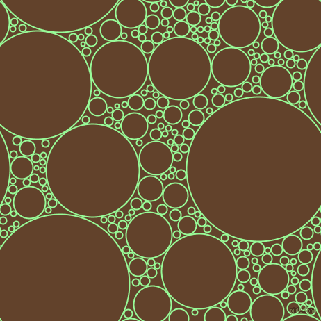 bubbles, circles, sponge, big, medium, small, 2 pixel line width, Pale Green and Irish Coffee circles bubbles sponge soap seamless tileable