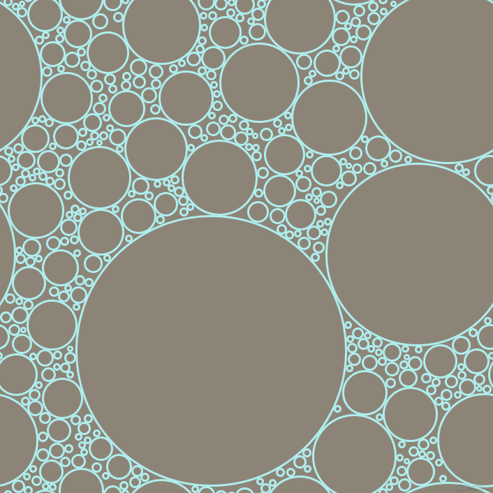 bubbles, circles, sponge, big, medium, small, 3 pixel line width, Pale Turquoise and Schooner circles bubbles sponge soap seamless tileable