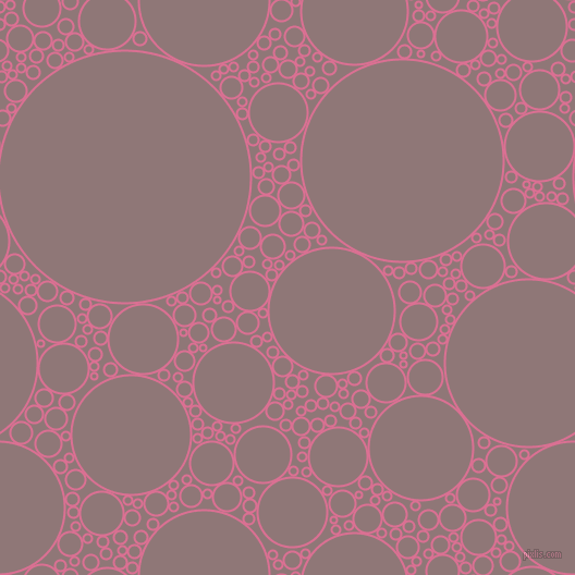 bubbles, circles, sponge, big, medium, small, 2 pixel line width, Pale Violet Red and Bazaar circles bubbles sponge soap seamless tileable