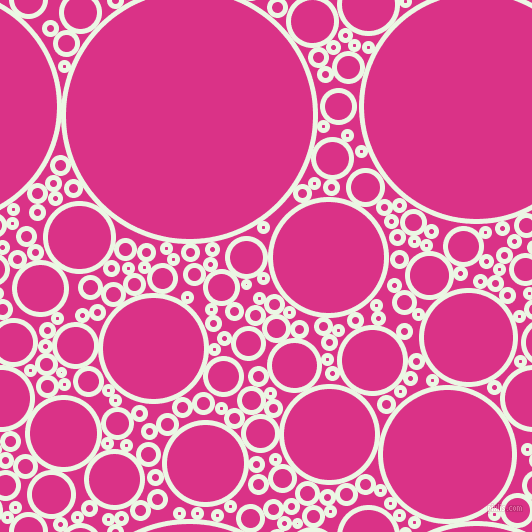 bubbles, circles, sponge, big, medium, small, 5 pixel line width, Panache and Deep Cerise circles bubbles sponge soap seamless tileable