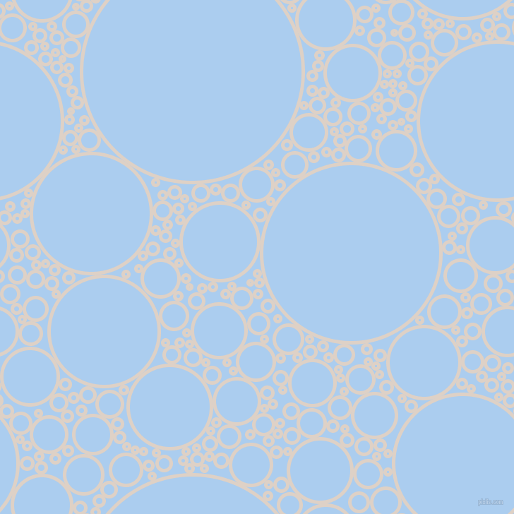 bubbles, circles, sponge, big, medium, small, 5 pixel line width, Pearl Bush and Pale Cornflower Blue circles bubbles sponge soap seamless tileable