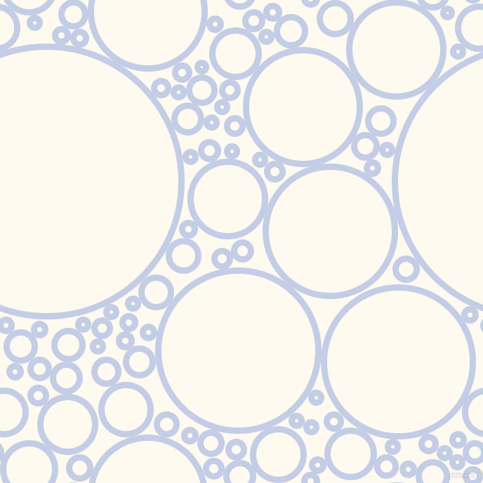 bubbles, circles, sponge, big, medium, small, 9 pixel line width, Periwinkle and Floral White circles bubbles sponge soap seamless tileable