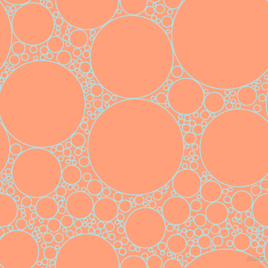 bubbles, circles, sponge, big, medium, small, 2 pixel line width, Powder Blue and Light Salmon circles bubbles sponge soap seamless tileable