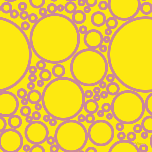bubbles, circles, sponge, big, medium, small, 9 pixel line width, Puce and Lemon circles bubbles sponge soap seamless tileable