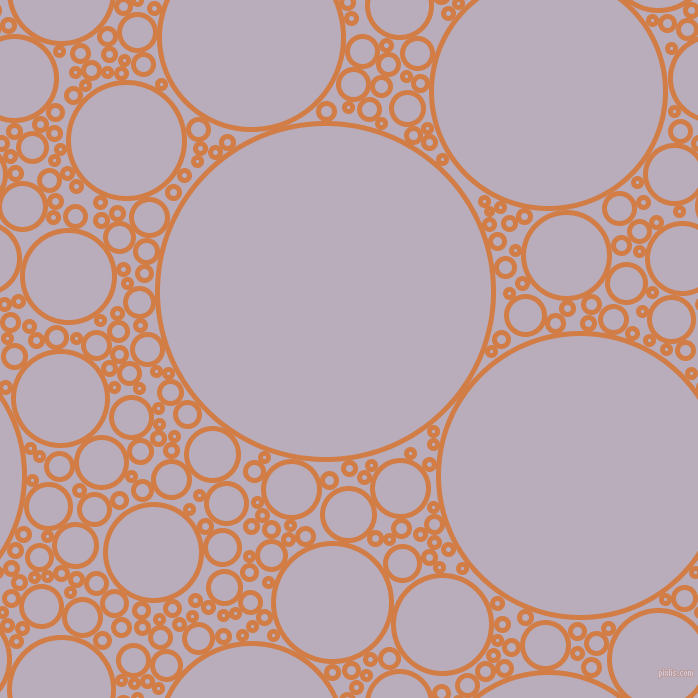 bubbles, circles, sponge, big, medium, small, 5 pixel line width, Raw Sienna and Lola circles bubbles sponge soap seamless tileable