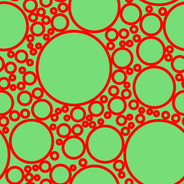 bubbles, circles, sponge, big, medium, small, 9 pixel line width, Red and Pastel Green circles bubbles sponge soap seamless tileable