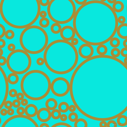 bubbles, circles, sponge, big, medium, small, 9 pixel line widthReef Gold and Bright Turquoise circles bubbles sponge soap seamless tileable