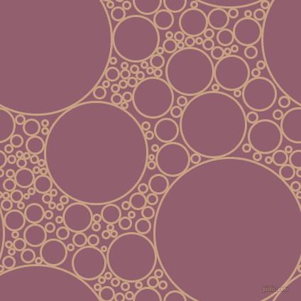 bubbles, circles, sponge, big, medium, small, 3 pixel line width, Rodeo Dust and Mauve Taupe circles bubbles sponge soap seamless tileable