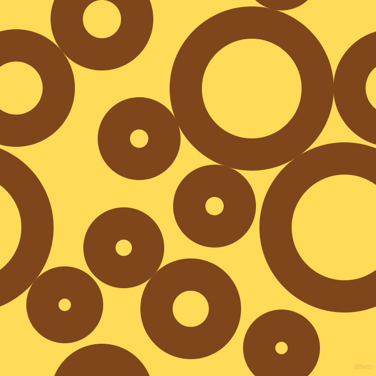bubbles, circles, sponge, big, medium, small, 65 pixel line width, Russet and Mustard circles bubbles sponge soap seamless tileable