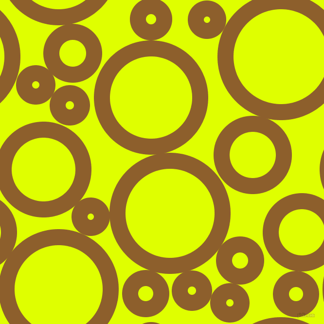 bubbles, circles, sponge, big, medium, small, 33 pixel line width, Rusty Nail and Chartreuse Yellow circles bubbles sponge soap seamless tileable