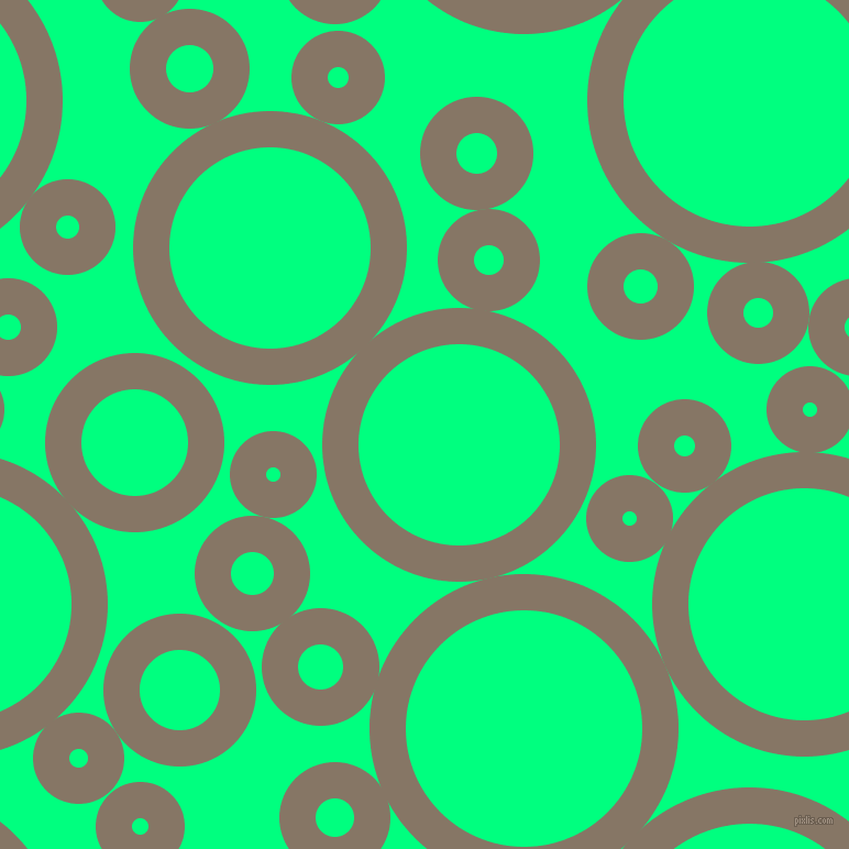 bubbles, circles, sponge, big, medium, small, 33 pixel line width, Sand Dune and Spring Green circles bubbles sponge soap seamless tileable