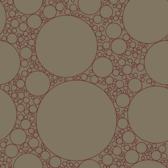 bubbles, circles, sponge, big, medium, small, 2 pixel line width, Sanguine Brown and Stonewall circles bubbles sponge soap seamless tileable