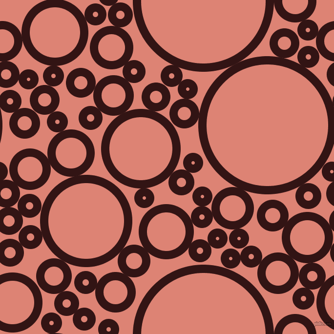 bubbles, circles, sponge, big, medium, small, 17 pixel line width, Seal Brown and New York Pink circles bubbles sponge soap seamless tileable