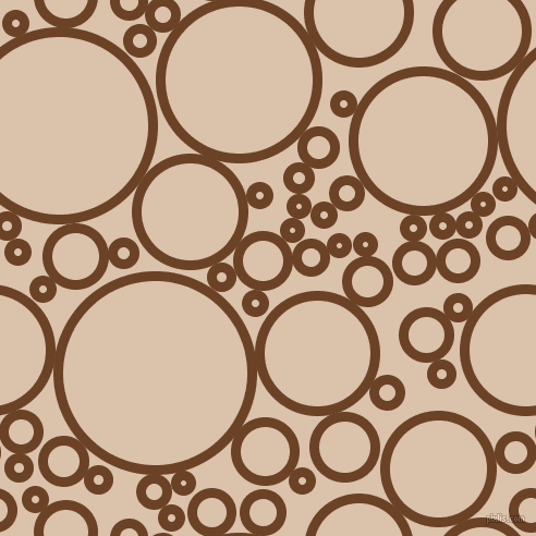 bubbles, circles, sponge, big, medium, small, 9 pixel line width, Semi-Sweet Chocolate and Bone circles bubbles sponge soap seamless tileable