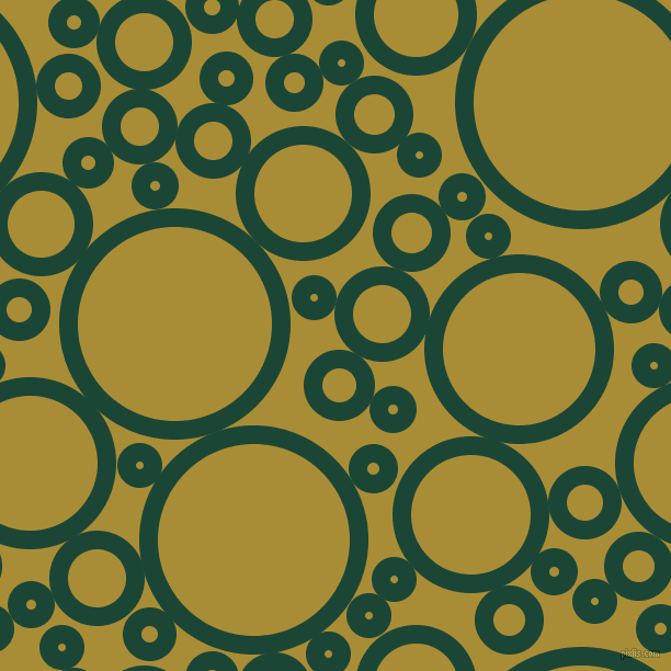 bubbles, circles, sponge, big, medium, small, 17 pixel line width, Sherwood Green and Reef Gold circles bubbles sponge soap seamless tileable