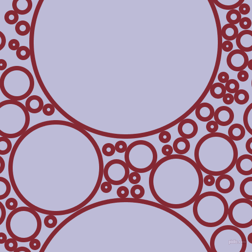bubbles, circles, sponge, big, medium, small, 9 pixel line width, Shiraz and Lavender Grey circles bubbles sponge soap seamless tileable