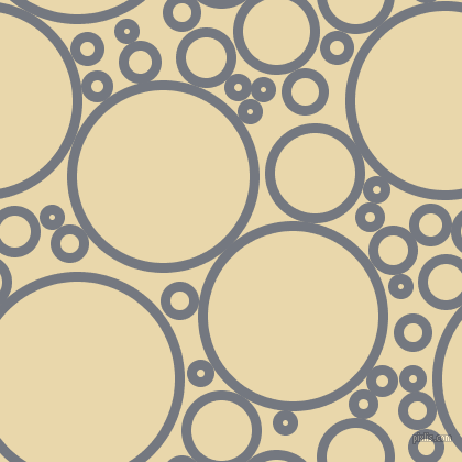 bubbles, circles, sponge, big, medium, small, 9 pixel line width, Storm Grey and Beeswax circles bubbles sponge soap seamless tileable