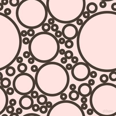 bubbles, circles, sponge, big, medium, small, 9 pixel line width, Taupe and Misty Rose circles bubbles sponge soap seamless tileable