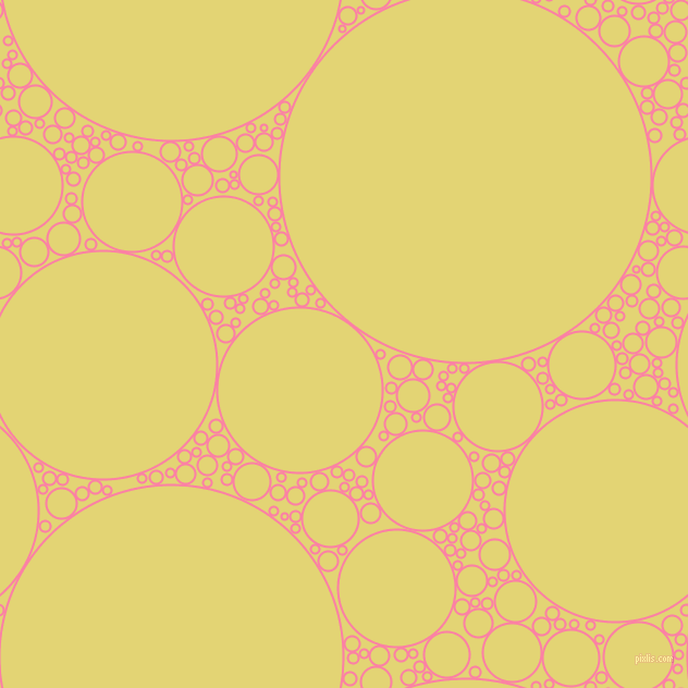 bubbles, circles, sponge, big, medium, small, 2 pixel line width, Tickle Me Pink and Wild Rice circles bubbles sponge soap seamless tileable