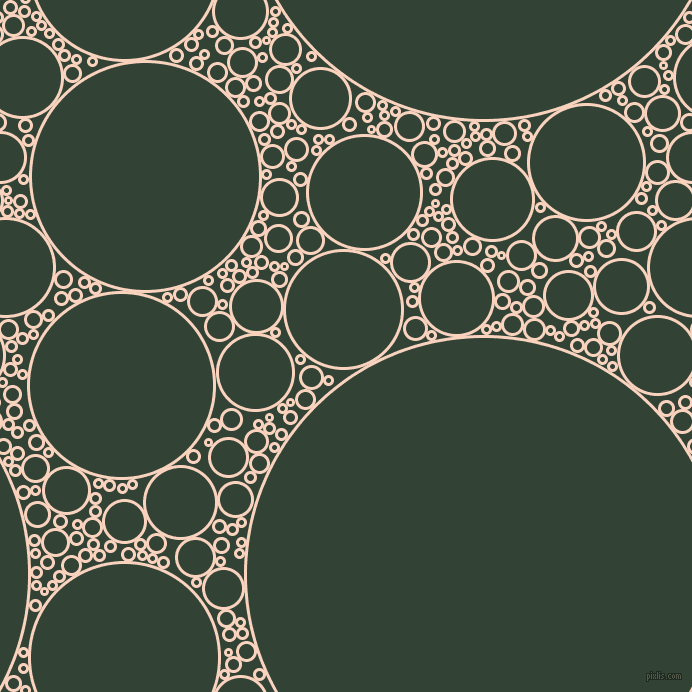bubbles, circles, sponge, big, medium, small, 3 pixel line width, Tuft Bush and Timber Green circles bubbles sponge soap seamless tileable