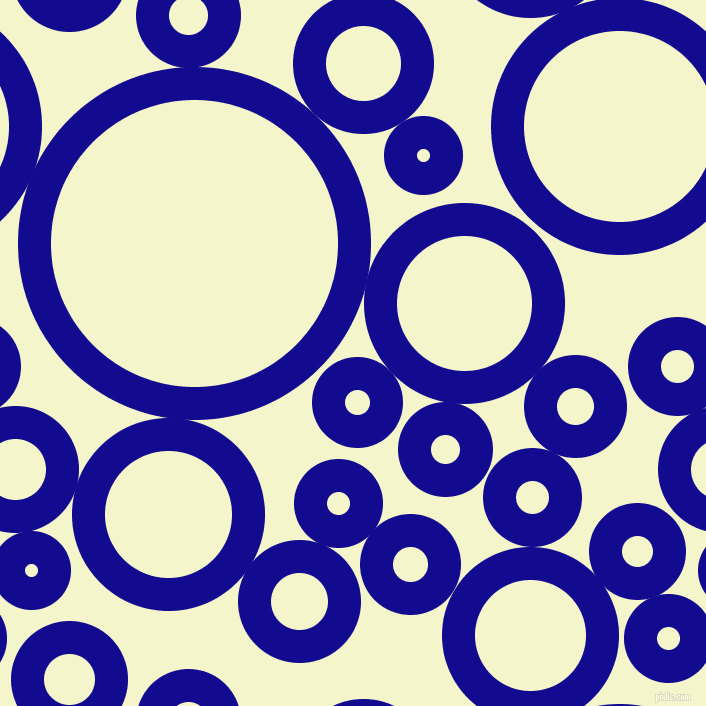 bubbles, circles, sponge, big, medium, small, 33 pixel line width, Ultramarine and Mimosa circles bubbles sponge soap seamless tileable