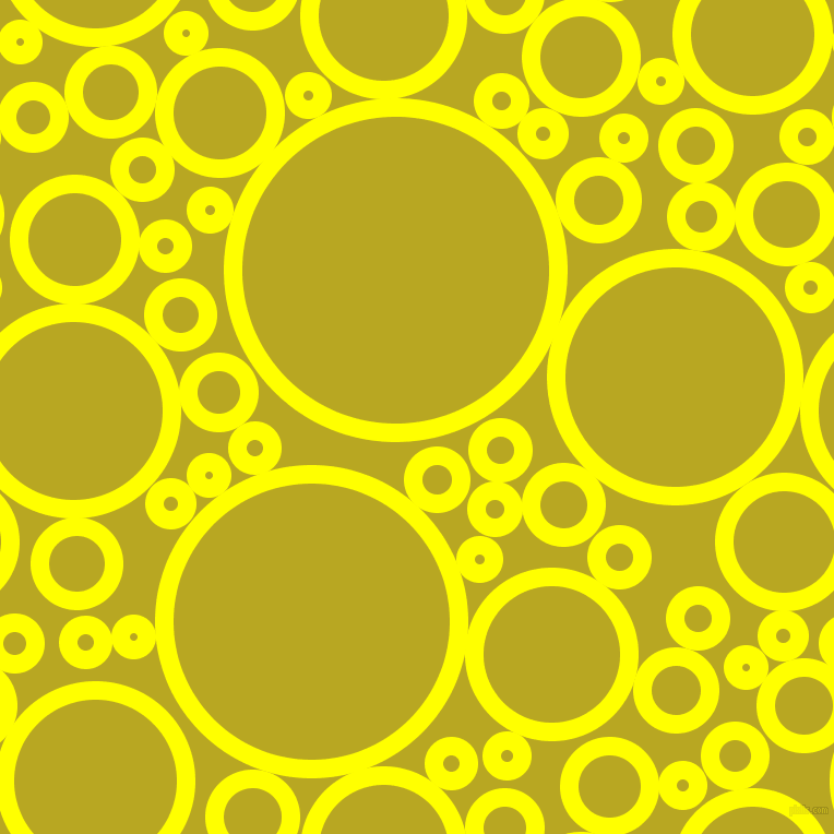 bubbles, circles, sponge, big, medium, small, 17 pixel line width, Yellow and Earls Green circles bubbles sponge soap seamless tileable
