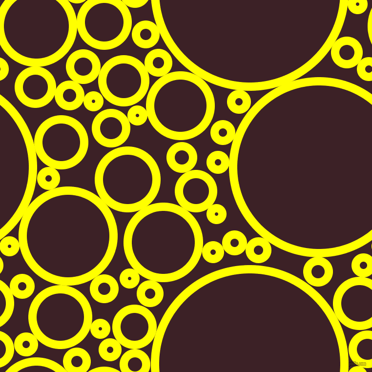 bubbles, circles, sponge, big, medium, small, 17 pixel line width, Yellow and Temptress circles bubbles sponge soap seamless tileable