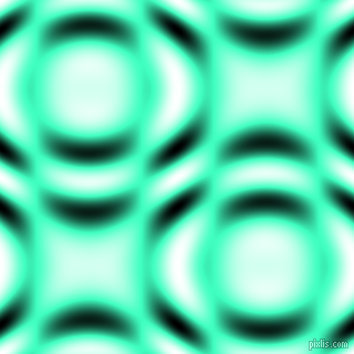 , Aquamarine and Black and White circular plasma waves seamless tileable