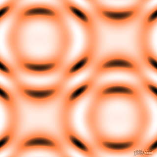 Burnt Orange and Black and White circular plasma waves seamless tileable
