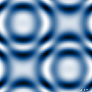 , Dark Cerulean and Black and White circular plasma waves seamless tileable