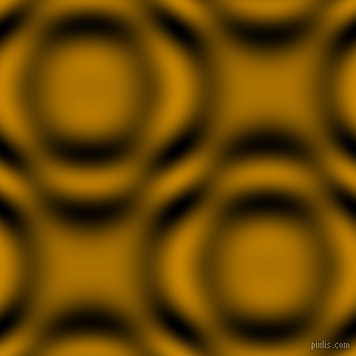 Dark Goldenrod and Black and White circular plasma waves seamless tileable