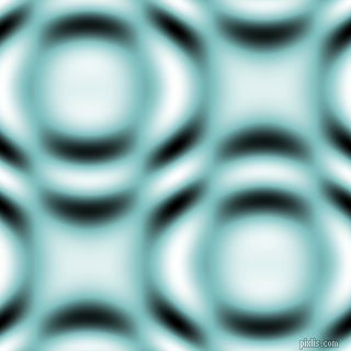 Fountain Blue and Black and White circular plasma waves seamless tileable