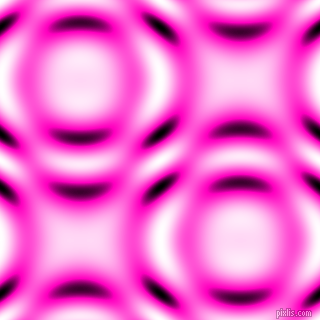 Hot Magenta and Black and White circular plasma waves seamless tileable