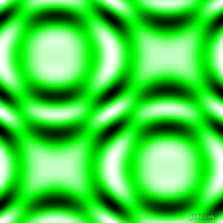 , Lime and Black and White circular plasma waves seamless tileable