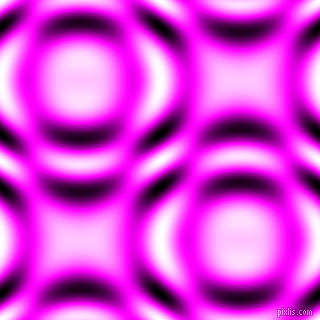 Magenta and Black and White circular plasma waves seamless tileable