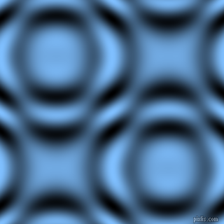 , Maya Blue and Black and White circular plasma waves seamless tileable