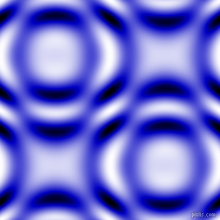 Medium Blue and Black and White circular plasma waves seamless tileable