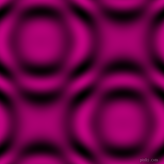 Medium Violet Red and Black and White circular plasma waves seamless tileable