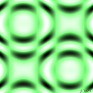 Mint Green and Black and White circular plasma waves seamless tileable