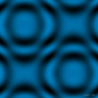 , Pacific Blue and Black and White circular plasma waves seamless tileable