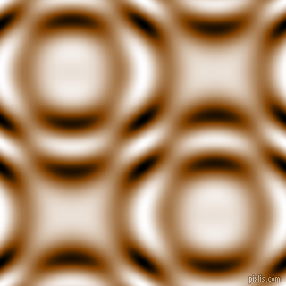 , Saddle Brown and Black and White circular plasma waves seamless tileable