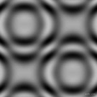, Silver and Black and White circular plasma waves seamless tileable