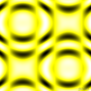 Yellow and Black and White circular plasma waves seamless tileable