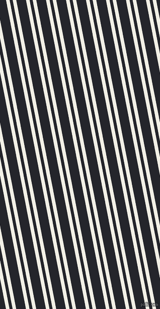 101 degree angle dual stripes line, 7 pixel line width, 6 and 19 pixel line spacing, Alabaster and Black Russian dual two line striped seamless tileable
