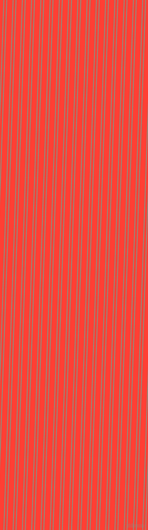 88 degree angle dual striped line, 2 pixel line width, 4 and 11 pixel line spacing, Almond Frost and Red Orange dual two line striped seamless tileable
