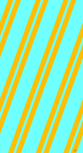 70 degree angles dual stripes line, 20 pixel line width, 10 and 58 pixels line spacing, Amber and Baby Blue dual two line striped seamless tileable