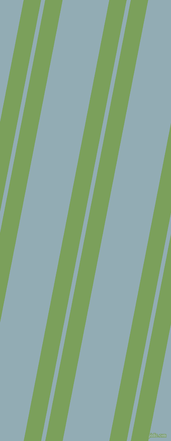 79 degree angle dual striped lines, 34 pixel lines width, 8 and 91 pixel line spacing, Asparagus and Botticelli dual two line striped seamless tileable